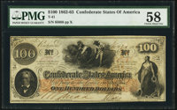 T41 $100 1862 PF-22 Cr. 320A PMG Choice About Unc 58