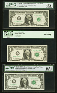 Fr. 1902-B; B*; E; E; G; G*; J; L; L* $1 1963B Federal Reserve Notes. ... (Total: 9 notes)