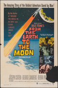 """Movie Posters:Science Fiction, From the Earth to the Moon (Warner Bros., 1958). Folded, Overall: Fine-. One Sheet (27"""" X 41"""") & Lobby Cards (6) (11"""" X 14"""")... (Total: 7 Items)"""