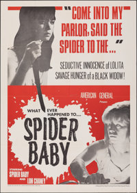 """Spider Baby (American General Pictures, Inc., 1968). Folded, Very Fine. One Sheet (27"""" X 41""""). Horror"""