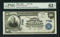 National Bank Notes:Ohio, Tiffin, OH - $10 1902 Plain Back Fr. 624 The Commercial National Bank Ch. # 7795 PMG Choice Uncirculated 63 EPQ.. ...