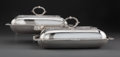 Silver & Vertu, A Pair of John Cramer Silver Covered Dishes, London, 1810. Marks to each: (lion passant), (crowned leopard's head), (duty ma... (Total: 2 )