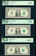 $1 Federal Reserve Notes. Fr. 1911-J* 1981 PCGS Gem New 64PPQ; Fr, 1912-K 1981A PCGS Superb Gem N... (Total: 9)