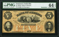Clarksville, TN- Bank of America $5 18__ G60b Remainder PMG Choice Uncirculated 64 EPQ