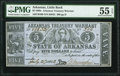 Obsoletes By State:Arkansas, Little Rock, AR- Arkansas Treasury Warrant $5 July 27, 1863 Cr. 50B PMG About Uncirculated 55 EPQ.. ...