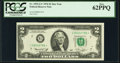 Low Serial Number 2786 Fr. 1935-G* $2 1976 Federal Reserve Note. PCGS New 62PPQ