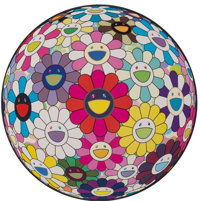 Takashi Murakami (b. 1962) Flowerball: Open Your Hands Wide, 2015 Offset lithograph in colors on sat