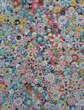Prints & Multiples, Takashi Murakami (b. 1962). This Merciless World, 2014. Offset lithograph in colors on wove paper. 27 x 20-3/4 inches (6...