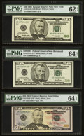 Small Size:Federal Reserve Notes, Fr. 2126-B $50 1996 Federal Reserve Note. PMG Uncirculated 62 EPQ;. Serial 00000428* Fr. 2127-E* $50 2001 Federal Reserve ... (Total: 3 notes)