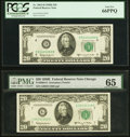 Fr. 2064-G $20 1950E Federal Reserve Note. PMG Gem Uncirculated 65.... (Total: 2)