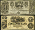 Obsoletes By State:Michigan, Jacksonburgh, MI- Jackson County Bank $3 Nov. 15, 1837 Very Fine;. Murfreesboro, TN- Exchange Bank of Tennessee $5 J... (Total: 2 notes)