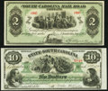 Obsoletes By State:South Carolina, Charleston, SC- South Carolina Rail Road Company $2 July 1, 1873 Remainder Crisp Uncirculated;. Columbia, SC- State of... (Total: 2 notes)