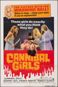 "Movie Posters:Horror, Cannibal Girls (American International, 1973). Folded, Fine+. One Sheet (27"" X 41""). Horror.. ..."
