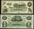 Obsoletes By State:South Carolina, Columbia, SC- State of South Carolina $2; $5 Mar. 2, 1872 Crisp Uncirculated.. ... (Total: 2 notes)