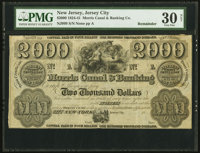 Jersey City, NJ- Morris Canal & Banking Co. $2000 18__ Wait 999 Remainder PMG Very Fine 30 Net