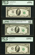Fr. 2013-I $10 1950C Federal Reserve Note. PCGS Gem New 65PPQ; Fr. 2014-G $10 1950D Federal Reserve Note. PMG Choice Unc...