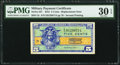 Military Payment Certificates:Series 521, Series 521 5¢ Replacement PMG Very Fine 30 EPQ.. ...
