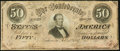 Confederate Notes:1864 Issues, T66 $50 1864 PF-1 Cr. 495 About Uncirculated.. ...