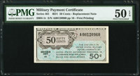 Series 461 50¢ First Printing Replacement PMG About Uncirculated 50 EPQ