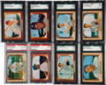 Baseball Cards:Lots, 1955 Bowman Baseball Graded Collection (19). ...