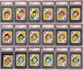 Baseball Cards:Sets, 1951 Topps Red Back PSA Mint or Gem Mint Master Set (54) Plus Mint 9 Wax Pack! ...