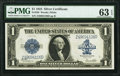 Large Size:Silver Certificates, Fr. 238 $1 1923 Silver Certificate PMG Choice Uncirculated 63 EPQ.. ...