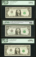Fr. 1917-A $1 1988A Federal Reserve Web Note. PCGS Very Choice New 64PPQ, block A-E, run 7, plate combo 5-2; Fr. 1920-C...
