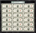 Fr. 1509 $2 1953 Legal Tender Notes. Uncut Sheet of 18. PMG Choice About Unc 58