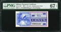 Military Payment Certificates:Series 661, Series 661 10¢ Replacement PMG Superb Gem Unc 67 EPQ.. ...