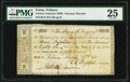 Obsoletes By State:Texas, Velasco, TX- Government of Texas $186 Aug. 22, 1836 Cr. V2 Medlar 3 PMG Very Fine 25, cancelled.. ...