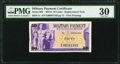 Military Payment Certificates:Series 692, Series 692 50¢ Replacement PMG Very Fine 30.. ...