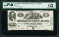 T42 $2 1862 PF-5 Cr. 337 PMG Choice Uncirculated 63