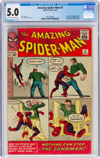 The Amazing Spider-Man #4 (Marvel, 1963) CGC VG/FN 5.0 Off-white to white pages
