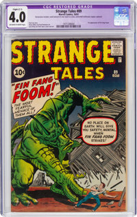 Strange Tales #89 (Marvel, 1961) CGC Apparent VG 4.0 Slight (C-1) Off-white to white pages