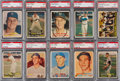 Baseball Cards:Sets, 1957 Topps Baseball Partial Set (268/407) With 100 Graded Cards. ...