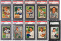 Baseball Cards:Sets, 1952 Bowman Baseball Graded Partial Set (63/252). ...