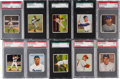Baseball Cards:Sets, 1950 Bowman Baseball Graded Partial Set (66/252). ...