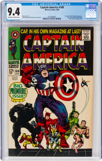 Captain America #100 (Marvel, 1968) CGC NM 9.4 Off-white to white pages