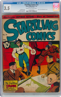 Startling Comics #12 (Better Publications, 1942) CGC VG- 3.5 Cream to off-white pages