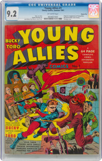 Young Allies Comics #1 Kansas City Pedigree (Timely, 1941) CGC NM- 9.2 Off-white pages