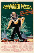 """Movie Posters:Science Fiction, Forbidden Planet (MGM, 1956). Fine- on Linen. One Sheet (27"""" X 41"""").. ..."""