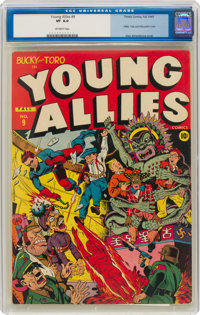 Young Allies Comics #9 (Timely, 1943) CGC VF 8.0 Off-white pages