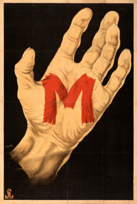 "M (Nero-Film AG, 1931). Fine+ on Linen. German Poster (37.5"" X 55.75"")"