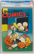 """Golden Age (1938-1955):Cartoon Character, Walt Disney's Comics and Stories #38 Davis Crippen (""""D"""" Copy) Pedigree (Dell, 1943) CGC VF/NM 9.0 Off-white to white pages...."""