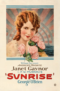 "Sunrise (Fox, 1927). Fine/Very Fine on Linen. One Sheet (28"" X 42.5"")"