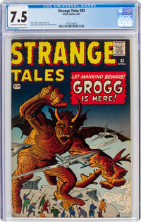 Strange Tales #83 (Marvel, 1961) CGC VF- 7.5 Off-white to white pages