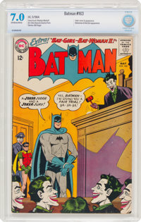 Batman #163 (DC, 1964) CBCS FN/VF 7.0 Off-white to white pages