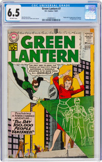 Green Lantern #7 (DC, 1961) CGC FN+ 6.5 Off-white pages