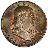 1960-D 50C MS66+ Full Bell Lines PCGS. PCGS Population: (48/1). NGC Census: (3/1). CDN: $1,150 Whsle. Bid for NGC/PCGS M...