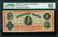 Obsoletes By State:District of Columbia, Washington, DC- Bullion Bank $1 July 4, 1862 G20a PMG Uncirculated 62.. ...